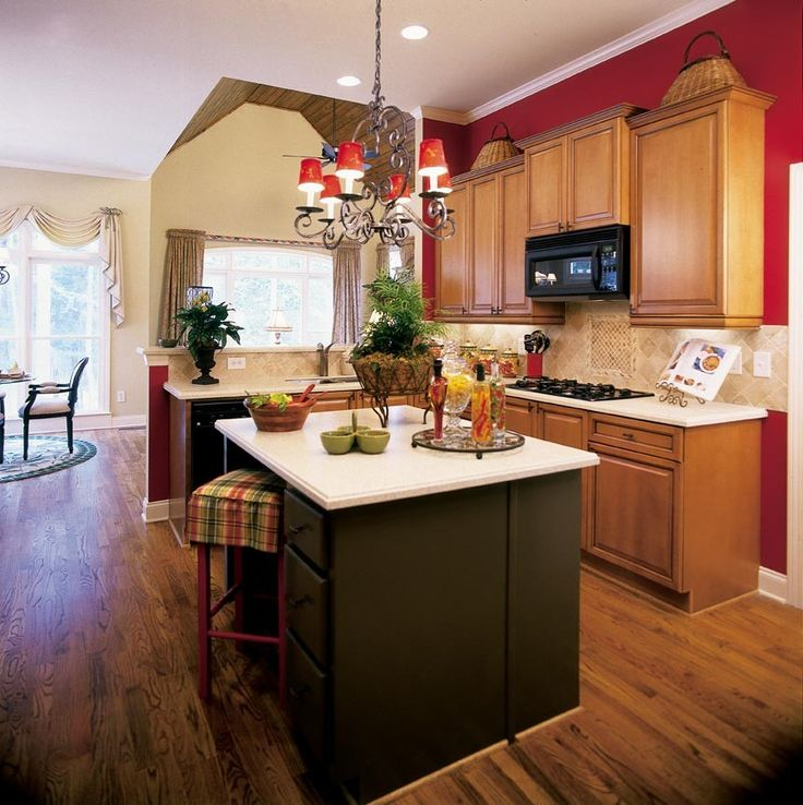 Green Kitchen Theme Ideas: Red Kitchen Decorating Theme