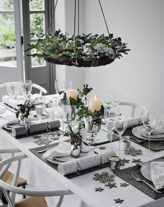50 Christmas Table Decoration Ideas - Settings and Centerpieces for on