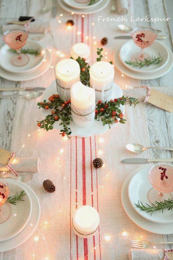 50 Christmas Table Decoration Ideas - Settings and Centerpieces for Christmas Table. « & 50 Christmas Table Decoration Ideas - Settings and Centerpieces for ...