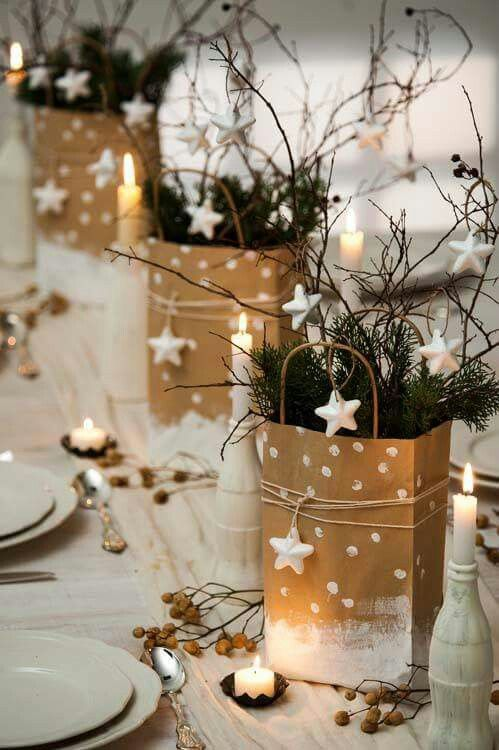50 christmas table decoration ideas settings and centerpieces for christmas table - Christmas Table Decoration Ideas Easy