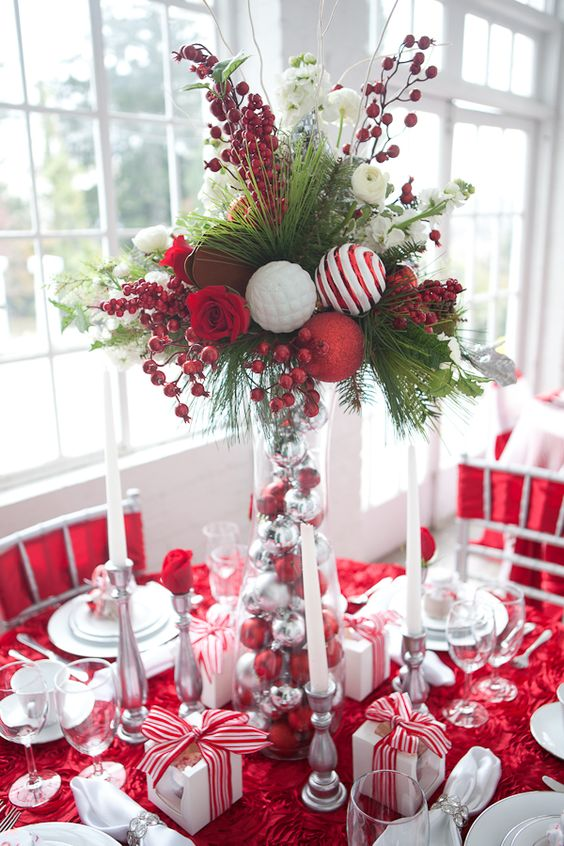 50 Christmas Table Decoration Ideas - Settings and ...