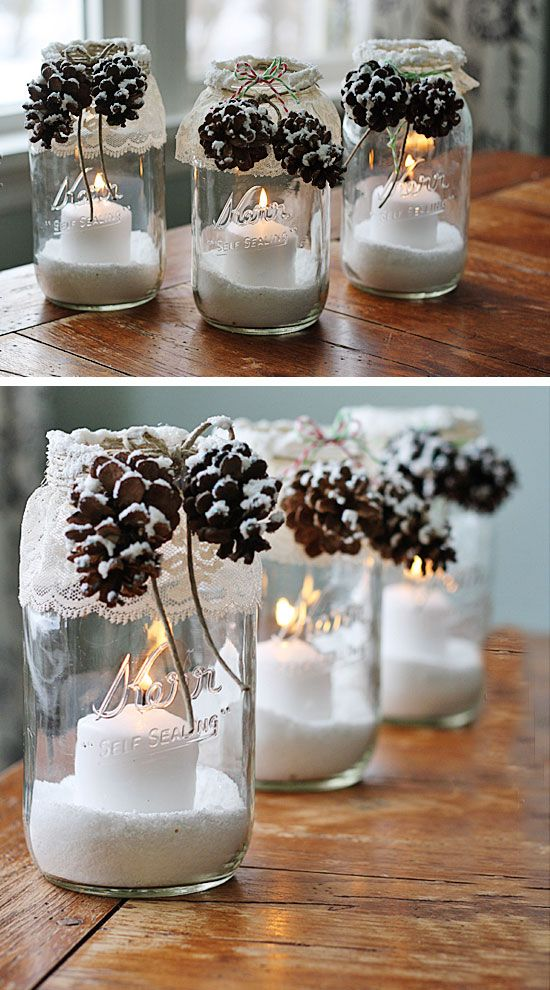50 creative homemade diy christmas decorations ideas - Homemade Christmas Decoration Ideas