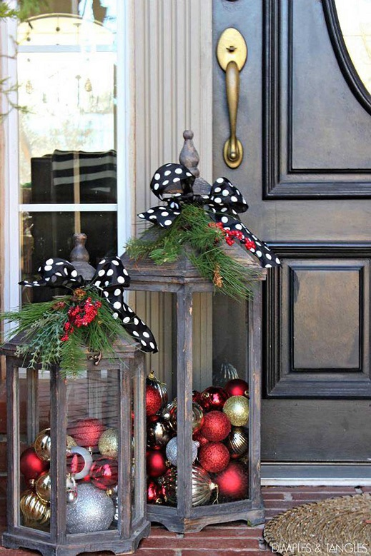 50 creative homemade diy christmas decorations ideas for Homemade decorations