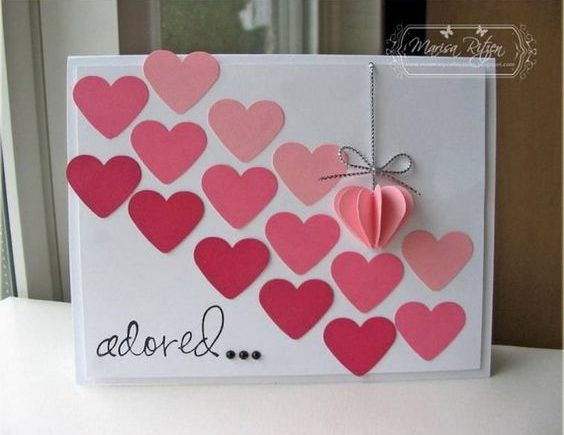 50 Amazing Ideas For Valentine Handmade Cards